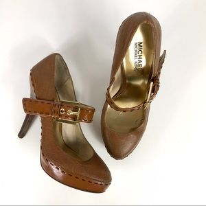 Michael Kors Hancock Mary Jane Whipstitch Heels